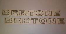 """New 1974-1988 FIAT Bertone X1/9 """"BERTONE"""" Side Door Decal Set Pair of 2 X19"""