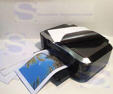 Magnetpapier für Fotodruck  weiß matt  DIN A4 - 5 Stück - Magnetfolie Fotopapier