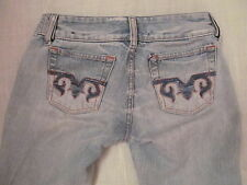 DIESEL HUSH DS bleached distressed  embroidered pockets light wash  jeans 24