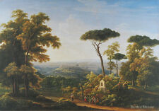 "20"" PRINT Italian Landscape,1819 by Matveyev ANTIQUE MUSEUM ART"