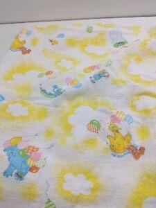 Vintage cotton Sesame Street Infant Toddler Baby Receiving Blanket 28 x 32