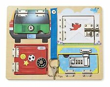 Melissa & Doug 19540 Lock and Latch Board - Multi-Coloured