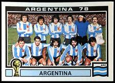 Argentina 78  Argentina #101 World Cup Story Panini Sticker (C350)