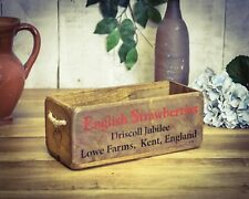 Hearty Vintage Wooden Crate Box From Dewsbury Reproduction Boxes/chests