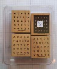 Stampin' Up! 2005 Alphabits Rubber Stamp Alphabet Letters Wood Mount