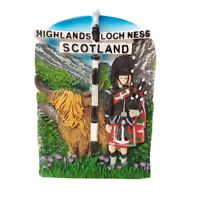 Scotland Fridge Magnet - Highland Cow, Loch Ness Scottish Thistle Souvenir Gift