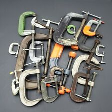 Mix Lot of 17 C-Clamps Various Sizes & Brands Aircraft Tools $.99 Auction