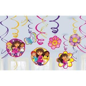Dora the Explorer Friends Nick Jr Kids Birthday Party Hanging Swirl Decorations