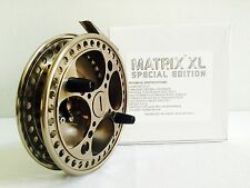 "RAVEN MATRIX 5 1/8"" XL SPECIAL EDITION CENTERPIN FLOAT REEL XL RAVEN REEL POUCH"