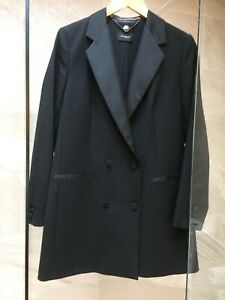 M&S Autograph Collection ladies black double breasted Tuxedo Jacket size UK12