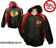 Chicago Blackhawks NHL Men's Full-Zip Hooded Winter Jacket