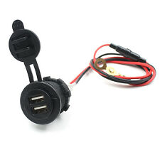 12V 24V 2 USB-Motorrad-Auto-Zigarettenanzünder-Ladegerät-Adapter Outlet