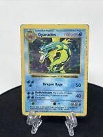 GYARADOS SHADOWLESS HOLO - Pokemon Base Set #6/102 Rare Card