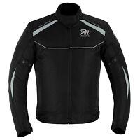 ARN® New Style Men Black Motorcycle Cordura Textile Jacket Motorbike CE Armours