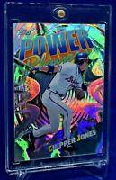 CHIPPER JONES TOPPS POWER PLAYERS SP RARE PRISM RAINBOW REFRACTOR ATLANTA BRAVES