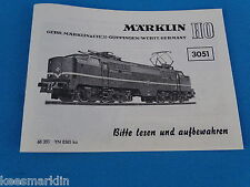 Marklin 3051 Electric Locomotive br 1200    Replica booklet 0365