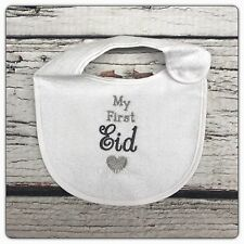 PERSONALISED Baby Bib Islamic Muslim New Gift Eid Boy Girl Any Colour
