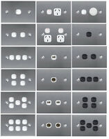 Flat Brushed Stainless Steel SLIM Wall Light Switch Plate Cover GPO Outlet Thin