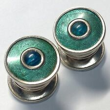 Vintage Cufflinks Snaps Kum A Part GREEN WITH A BLUE STONE(cl18)
