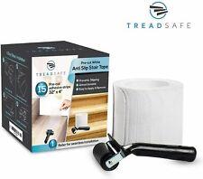 "TreadSafe (15-Pack) Non-Slip Stair Treads Tape | 32"" x 4""  White Prevent Pre Cut"