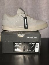 Supra Vaider Low Mens Size 7 Grey Gunny Tuf