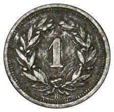 Switzerland 1 Rappen 1944 coin km#3a zinc