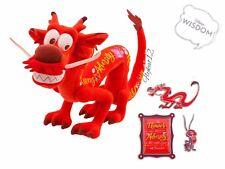 Disney Store Wisdom Plush Mulan Mushu February Limited Release Plush & Pin Set