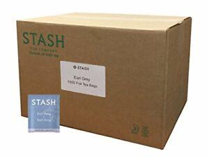 Stash Tea Earl Grey Black Tea 1000 Count Tea Bags in Foil Full Caffeine Tea B...