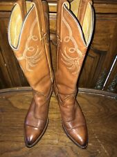 Frye PULL-ON Brown Leather Western Cowboy Boot Women's US 6.5B