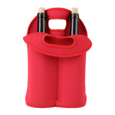 Double Bottle Drink/Wine/Beer Cooler Insulated Neoprene Tote Bag Carrier Gift im