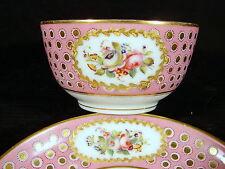 Tasse & sous-tasse porcelaine Paris XIX signées Launay rue du Bac 71 decor peint