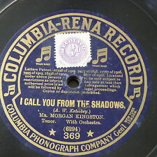 "78rpm 12"" MORGAN KINGSTON i call you from the shadows / onaway awake beloved"