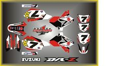 Suzuki DRZ400 DRZ 400  SEMI CUSTOM GRAPHICS KIT FACTORY DRZ WHITE
