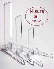 Espositore poggia piatti verticale trasparente supporto plexiglass kristall
