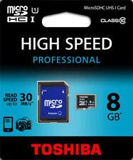 Cartes mémoire Toshiba microsdhc pour appareil photo et caméscope
