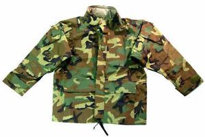 Helikon Waterproof ECWCS Jacket US Army Mens Parka Military Smock Woodland Camo