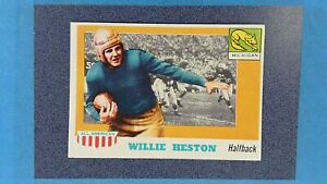 1955 Topps #93 WILLIE HESTON All American Michigan EXMT ~MR25A