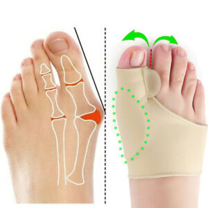 Pair Hallux Big Toe Bunion Protector Corrector Straightener Alignment Separator