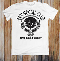 Anti Social Club Style Music Conduct Skull Unisex T Shirt
