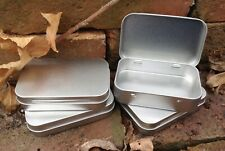 Rectangle Metal Tin with Hinged Lid 50ml *Crafts Altoid Pastille Tobacco *NEW