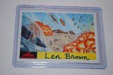 The Saucers Crash 41-2017 Topps Mars Attacks The Revenge Len Brown Auto-01/10