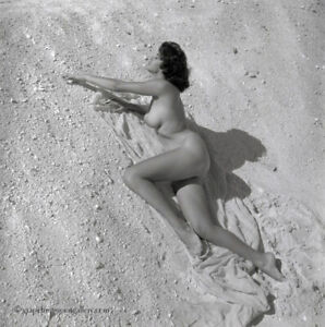Bunny Yeager Estate Unique Camera Negative Stunning Nude In Naples Frame 1960s