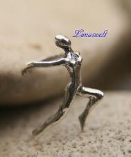 Sportlerin Ohrklemme 925 Silber  Frau rennt  -----Sterlingsilber