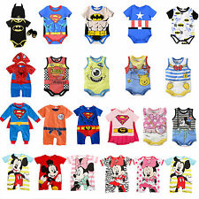 Newborn Baby Boy Girls Romper Bodysuit Jumpsuit Playsuit Cartoon Clothes Outfits