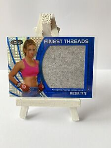 Miesha Tate Topps Trading Card UFC Finest 2012 /188 Blue Fighter Worn Relic Hit