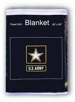 "U.S. ""Army of One"" Logo Fleece Blanket 50""x60"" United States Travel Throw Cover"