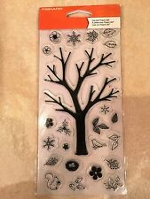 Clear Acrylic Stamp Set by Fiskars Stamps Build-a-Tree Tree 103760-1001 NEW