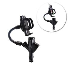 USB Port Cigarette Lighter Socket Car Charger Mount Holder for Cell Phone iPhone