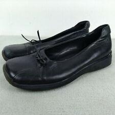 Aldo Vera Pelle Italy Buran Black Leather Lace Round Toe Flat Loafer US 6 EUR 36