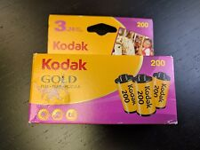 3 PACK (3 Rolls) KODAK GOLD 200 Color Print FILM 35 mm 24 Exposure EXPIRED 02/12